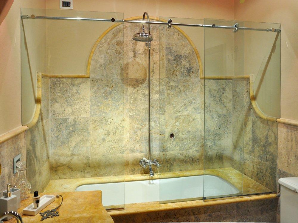Chiusura scorrevole per vasca da bagno - Vasca da bagno in vetro ...