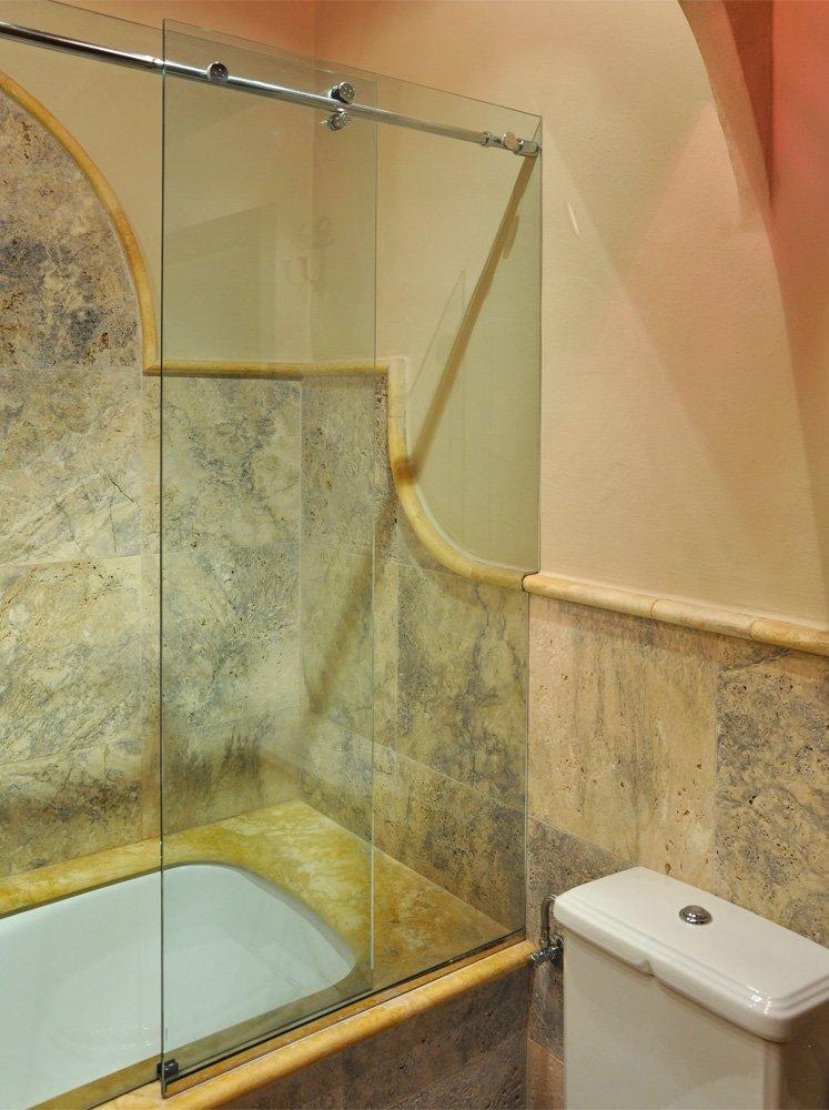 Vasca da bagno con chiusura in vetro - Vasca da bagno in vetro ...