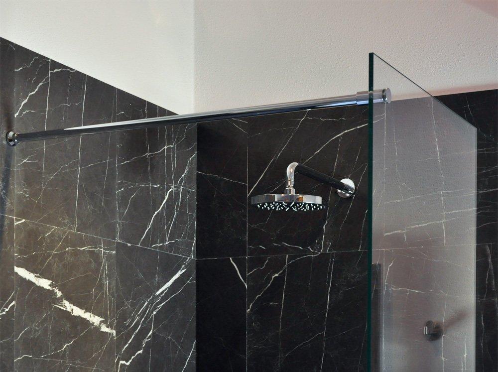 Paraschizzi fisso per vasca - Vasca da bagno in vetro ...