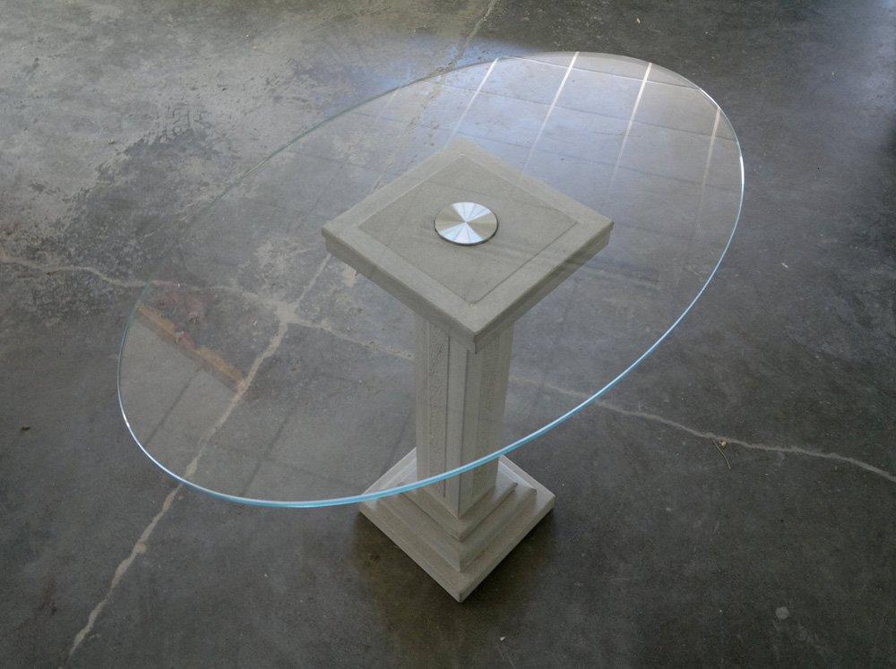 Tavolo su capitello in pietra serena - Tavolo con base in pietra ...