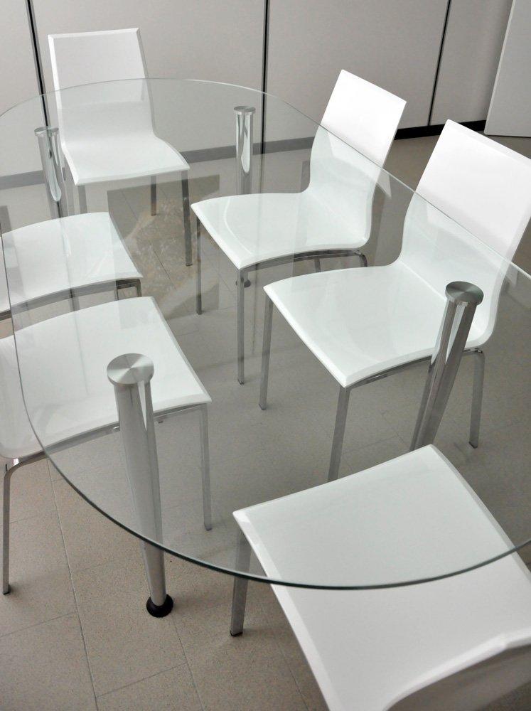 Tavolo riunioni ovale vetro - Tavolo vetro ovale ...